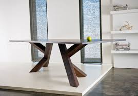 Dining Room Tables Contemporary Contemporary Iconoclast Wooden Dining Table Stylish Modern