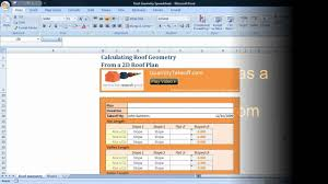estimating roof geometry from a d roof plan excel template estimating roof geometry from a 2d roof plan excel template tutorial mp4