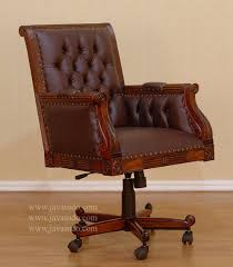 leather swivel office chair antique leather office chair