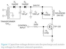 simple solenoid driver is adaptable and efficient edn on digital adjustable dc power supply schematic