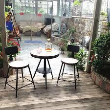 however excellent home creative retro tea shop cafe coffee table wrought iron balcony outdoor round coffee balcony outdoor furniture