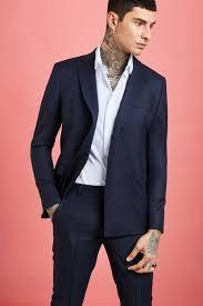 Minimal <b>One Button Suit Jacket</b>   Boohoo