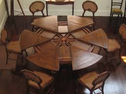 wood extendable dining table walnut modern tables: large round dining room tables with leaves bexitk round dining room tables with leaf