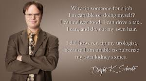 kidney stones tipping dwight schrute the office wallpaper backgrounds office wallpapers