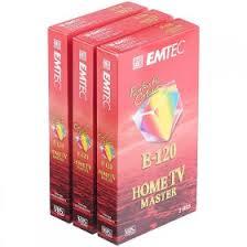 Emtec Home TV Master <b>E120 VHS</b> Tape, 120 min, 3-pack