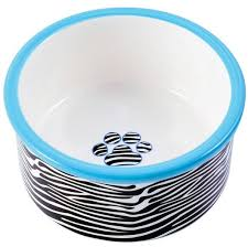 <b>КерамикАрт миска керамическая для</b> собак 600 мл зебра