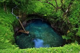 To Sua Ocean Trench,kolam renang alam terindah di Samoa ...