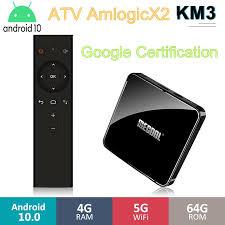 Android 10 TV BOX <b>MECOOL KM3 ATV Google</b> Certified TV Box 4k ...