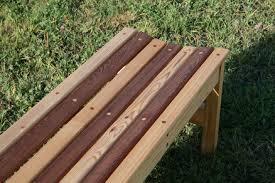 cedar garden bench for wedding gift cedar bench plans