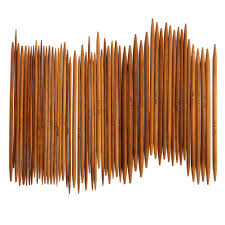 <b>55Pcs 11sizes 5</b>'' <b>13cm</b> Double Pointed Carbonized Bamboo ...