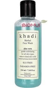 "<b>Натуральный</b> очищающий <b>гель</b>-<b>скраб для лица</b> с алоэ вера ""Khadi"""