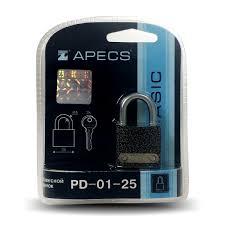 <b>Замок навесной Apecs PD-01-25</b>-Blister
