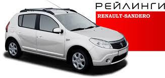 <b>Рейлинги</b> крыши А.П.С Renault Sandero (2014-)