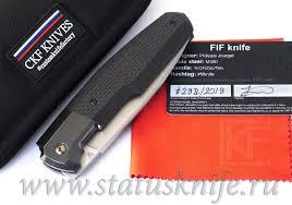 Купить <b>Нож CKF</b>/<b>Philippe</b> Jourget FIF23 (M390, титан+цирконий+ ...