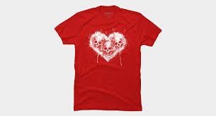 <b>Love Kills</b> White <b>T Shirt</b> By Snazzygaz Design By Humans