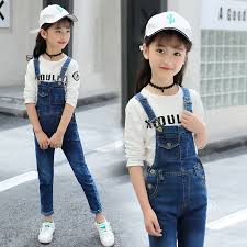 Kids Jeans Jumpsuits <b>Girls 2018 New Fashion</b> Autumn Winter Baby ...