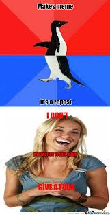 RMX] [RMX] Socially Awesome Awkward Penguin by mrlolol - Meme Center via Relatably.com