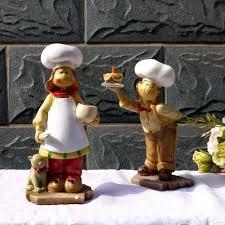 <b>2 Pieces</b>/<b>set</b> Chef Figurines Home decor Ornament Resin Crafts ...