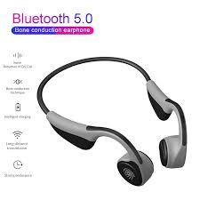 <b>V9</b> Headphones Bluetooth 5.0 <b>Bone</b> Conduction Headsets Wireless ...