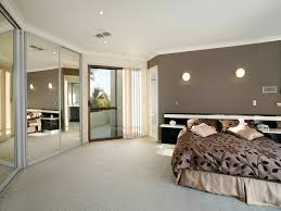 colours for a bedroom: classic bedroom design idea with carpet amp built in wardrobe using brown colours bedroom