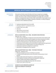 sample medical receptionist resume template sample customer sample medical receptionist resume template front desk medical receptionist resume example resume sample assistant seangarrette coclerk