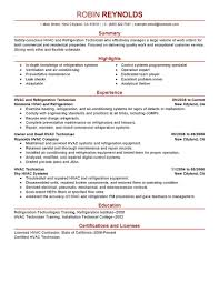 best hvac and refrigeration resume example livecareer create my resume