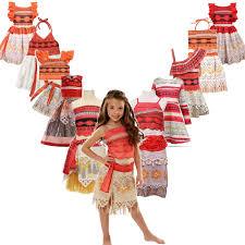 <b>Girls Summer Moana Cosplay</b> Dress Children Dress Up Costumes ...