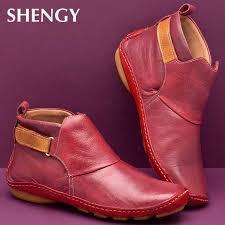 <b>2019</b> Ankle Boots <b>Autumn Vintage</b> Lace Up Women Shoes ...