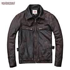 Бренд mapesteed, винтажная кожаная мужская куртка, 100 ...