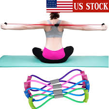 Yoga Fitness Resistance <b>8 Word Chest Expander</b> Rope Workout ...