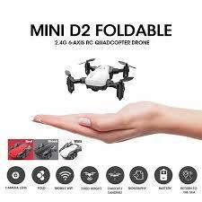 VicTsing <b>Mini</b> D2 Foldable <b>2.4G</b> 6-Axis RC <b>Quadcopter Drone</b> HD ...