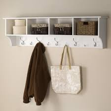 prepac  in wallmounted coat rack in whitewec  the home