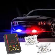 <b>MZORANGE</b> 2x3 LED DRL Motorcycle Strobe Brake Day Light <b>12V</b> ...