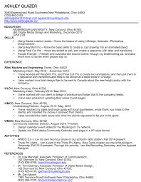 resume ashley glazer media portfolio resume
