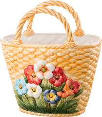 Декоративная чаша <b>Lefard</b> Корзина с цветами, 335-006, 32 х 18 х ...