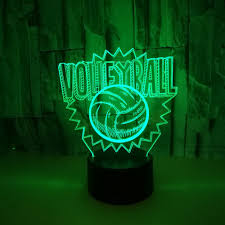 Acrylic 7 Color <b>Volleyball 3D LED</b> Night Light <b>illusion LED</b> Lamp ...
