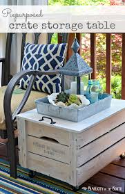 shipping crate table bedroomeasy eye upcycled pallet furniture ideas