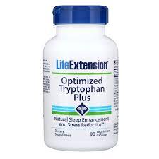 Life Extension, <b>Optimized Tryptophan Plus</b>, 90 Vegetarian Capsules ...