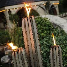 outdoor torch lighting. sculptural outdoor torch lights seguero cactus light lighting t