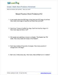 Math worksheets with word problems for grade 3 students. | K5 LearningAddition word problems for third grade Grade 3 math word problems worksheet