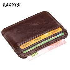 KACDYSI <b>Men's Genuine Cowhide Leather</b> Purse Vintage Slim Coin ...
