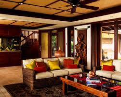 modern tropical living room