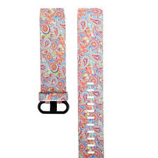 bakeey colorful printed watch strap <b>soft silicone watch band</b> for fitbit ...