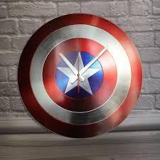 <b>Часы</b> Капитан Америка <b>Марвел Marvel</b> Captain America декор ...