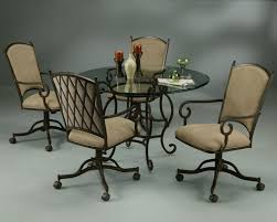 casual dining chairs with casters: pastel furniture atrium table with atrium