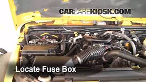 replace a fuse 2007 2016 jeep wrangler 2008 jeep wrangler locate engine fuse box and remove cover