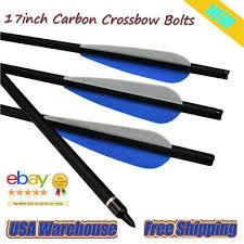 <b>6pcs Carbon</b> Arrows <b>17inch Crossbow</b> Bolts For <b>Crossbow</b> Hunting ...
