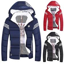 CoolCoats Winter Fashion <b>Men's</b> Hooded <b>Cotton</b> Padded <b>Jacket</b> ...