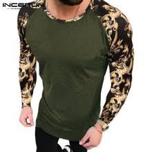 INCERUN, модная мужская <b>футболка с круглым</b> вырезом, пэчворк ...