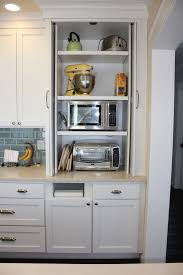 catching racks floating microwave shelf hidden microwave and toaster oven would love to have the built in towe